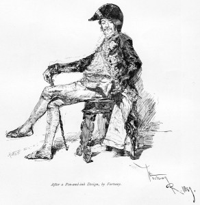 Mariano Fourtuny, Man d'Epinay, Pen-and ink (Thumbnail)